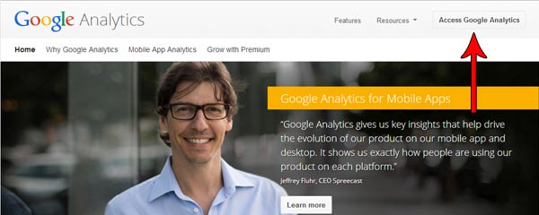 Google Analytics Page