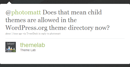 Themelab child theme question